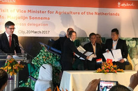 The Vietnam - Netherlands Signing Ceremony took place on 20 March 2017 in Ho Chi Minh City, Vietnam.